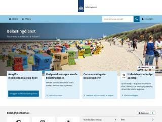 Screenshot voor belastingdienst.nl