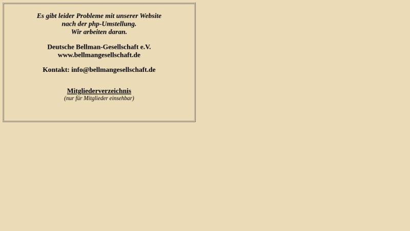 www.bellmangesellschaft.de Vorschau, Deutsche Bellman-Gesellschaft e.V.