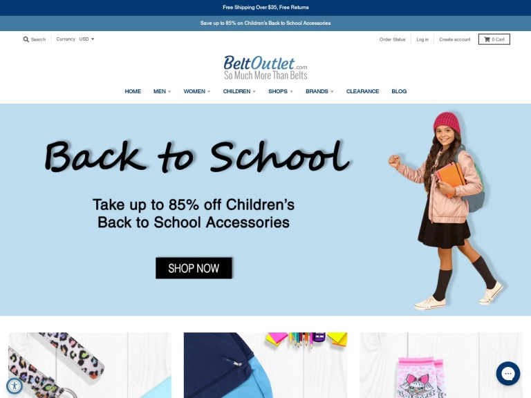 Beltoutlet.com screenshot