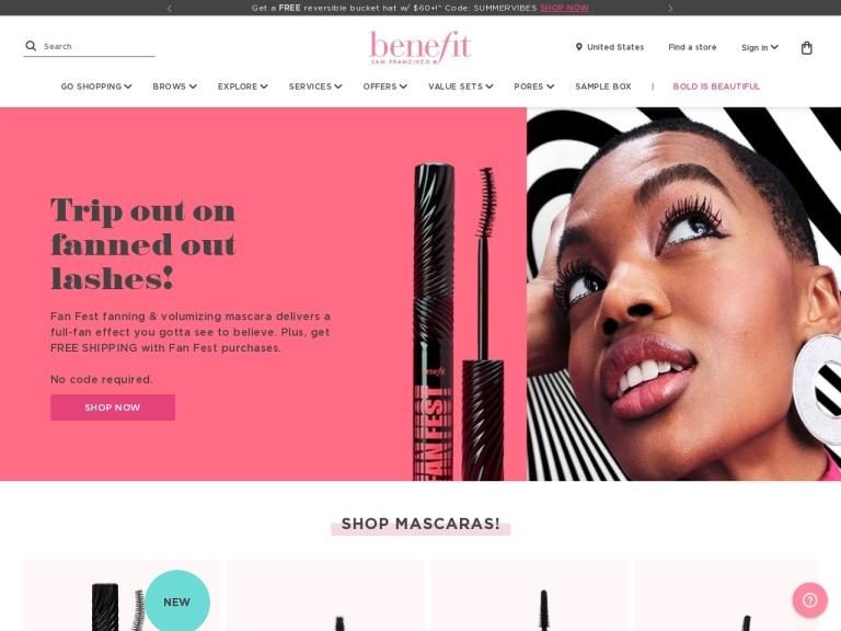 Benefit Cosmetics screenshot
