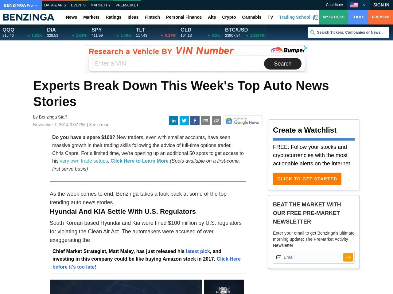 4 Auto Stories You Might Have Missed This Week