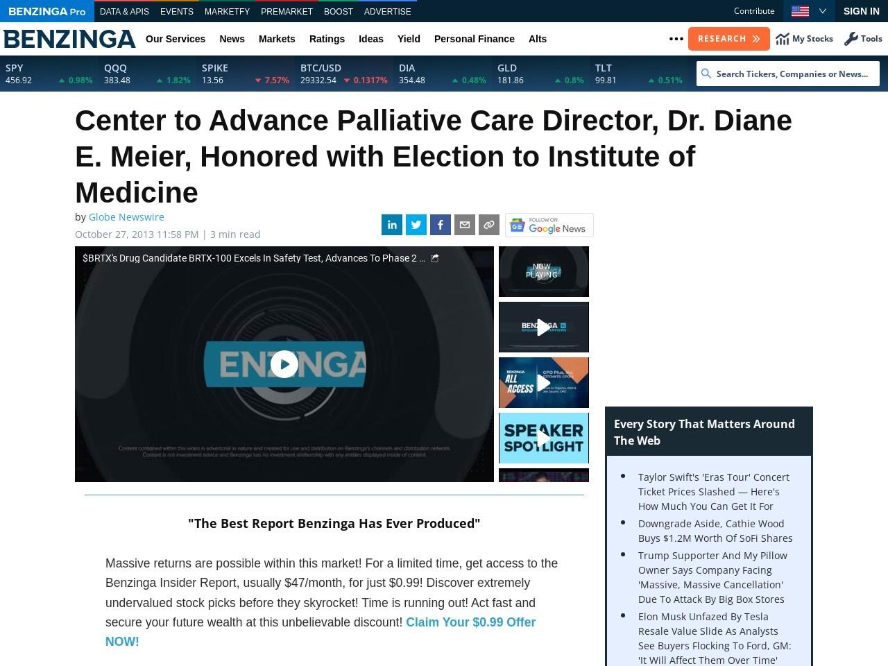 Center to Advance Palliative Care Director, Dr. Diane E. Meier, Honored…
