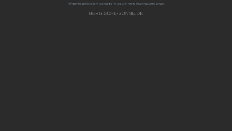 www.bergische-sonne.de Vorschau, Bergische Sonne