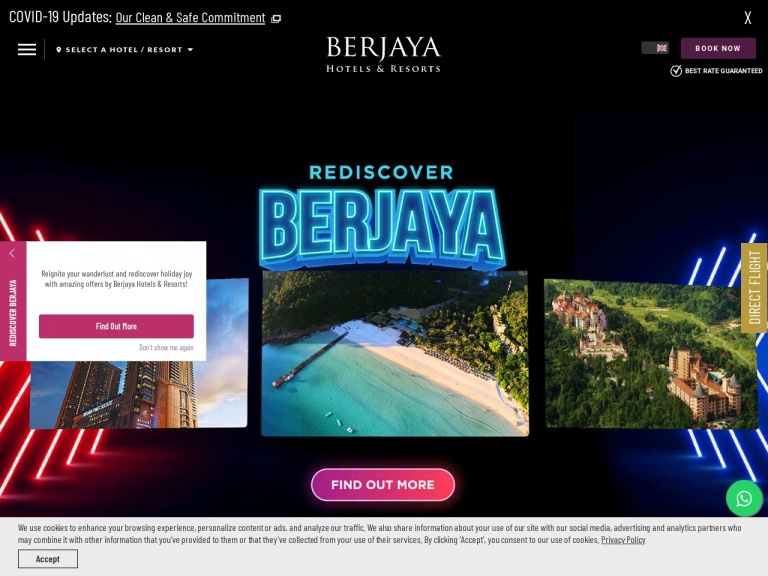 Berjaya Hotels and Resorts screenshot