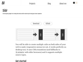 Sidr – A jQuery plugin for creating side menus