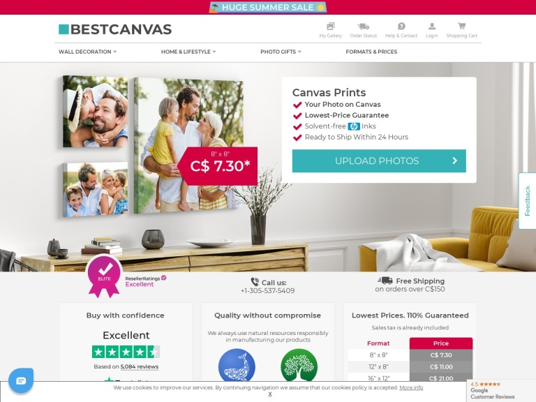 Bestcanvas.ca screenshot