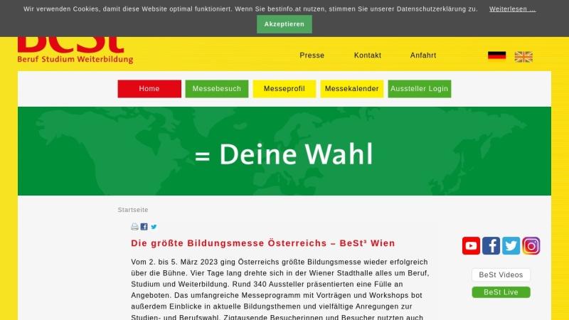 www.bestinfo.at Vorschau, BeStInfo.at - Messe für Beruf, Studium und Weiterbildung