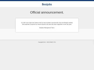Screenshot for bestjobs.com.sg