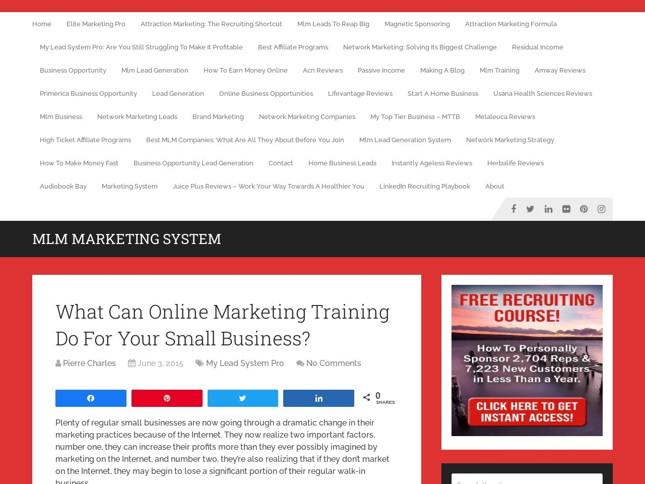 What Can Online Marketing Training Do For Your Small …