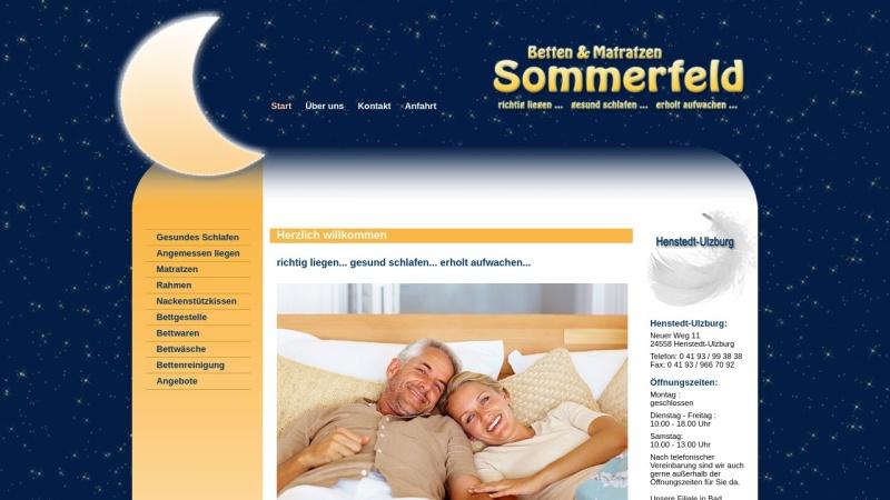 www.betten-sommerfeld.de Vorschau, Betten Sommerfeld, Reinhard Sommerfeld