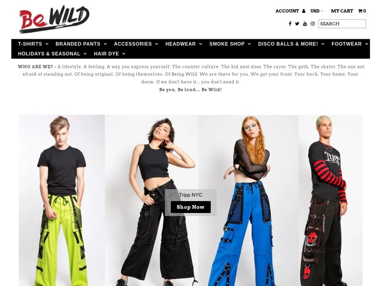 Bewild.com screenshot