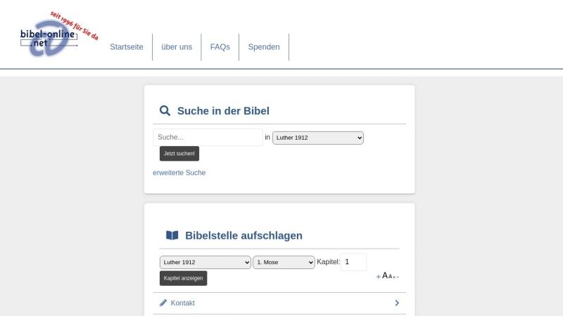 www.bibel-online.net Vorschau, Luther-Bibel