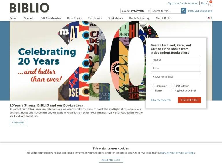 Biblio, Inc. screenshot