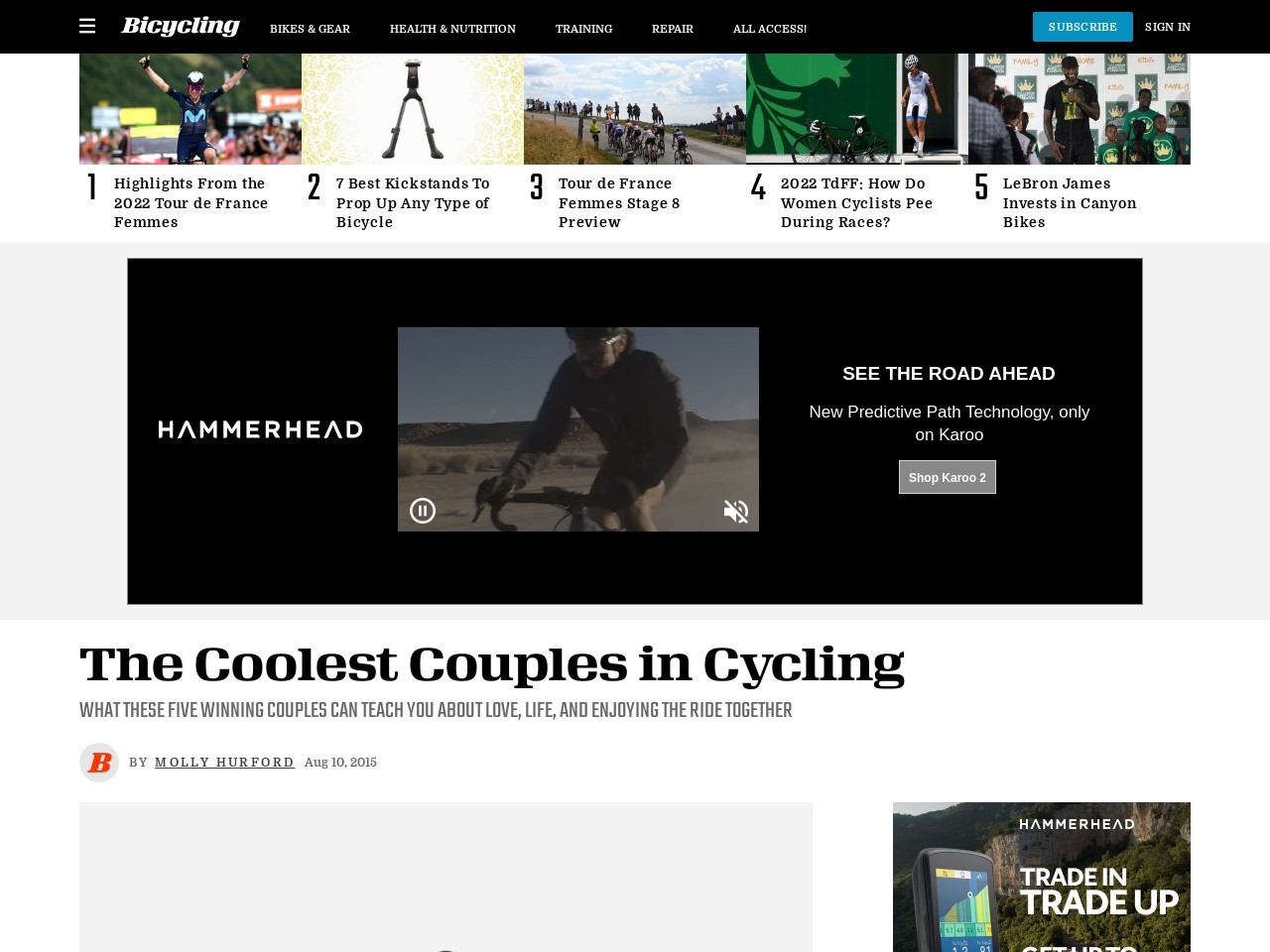 The Coolest Couples in Cycling | Bicycling