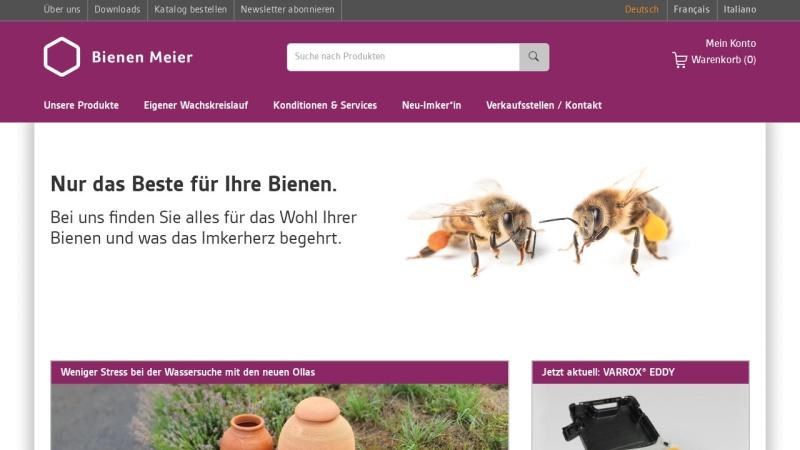 www.bienen-meier.ch Vorschau, Bienen Meier