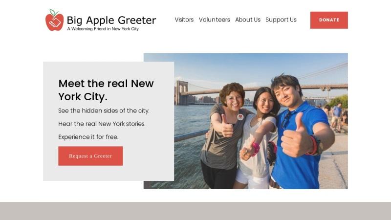 www.bigapplegreeter.org Vorschau, Big Apple Greeter