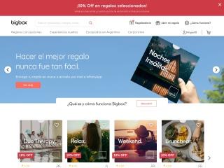Captura de pantalla para bigbox.com.ar