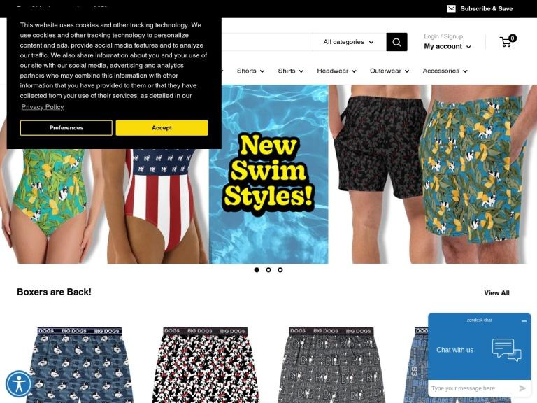 Bigdogs.com screenshot