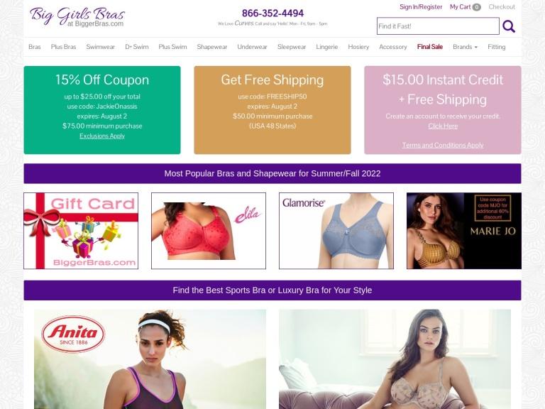 BiggerBras.com Coupon Codes