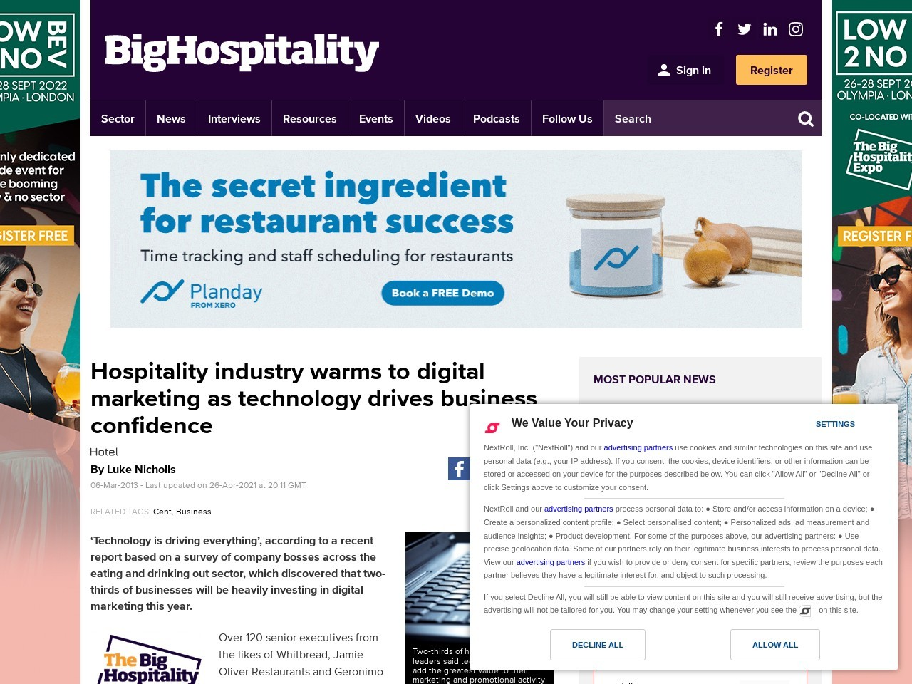 Hospitality industry warms to digital marketing as technology drives …