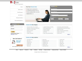Screenshot for bigjobs.co.in