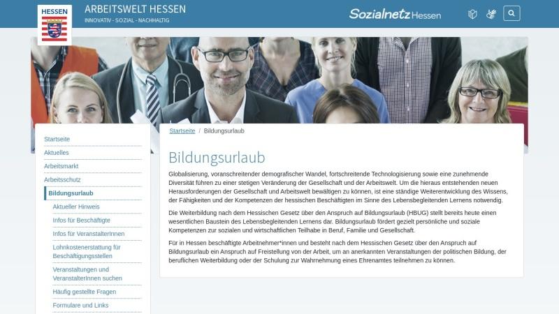 www.bildungsurlaub.hessen.de Vorschau, Bildungsurlaub in Hessen