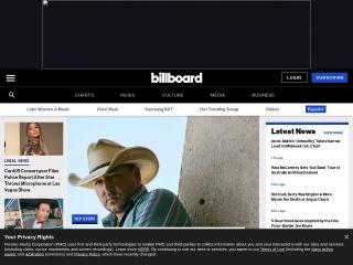 Screenshot for billboard.com