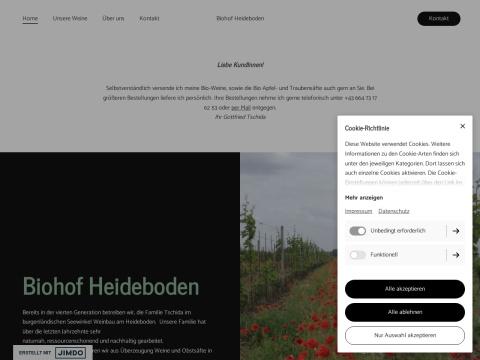 BioHof HeideBoden - Weingut und Obstbau Gottfried Tschida
