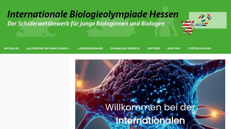 www.biologieolympiade-hessen.de Vorschau, Internationale Biologieolympiade Hessen (IBO)