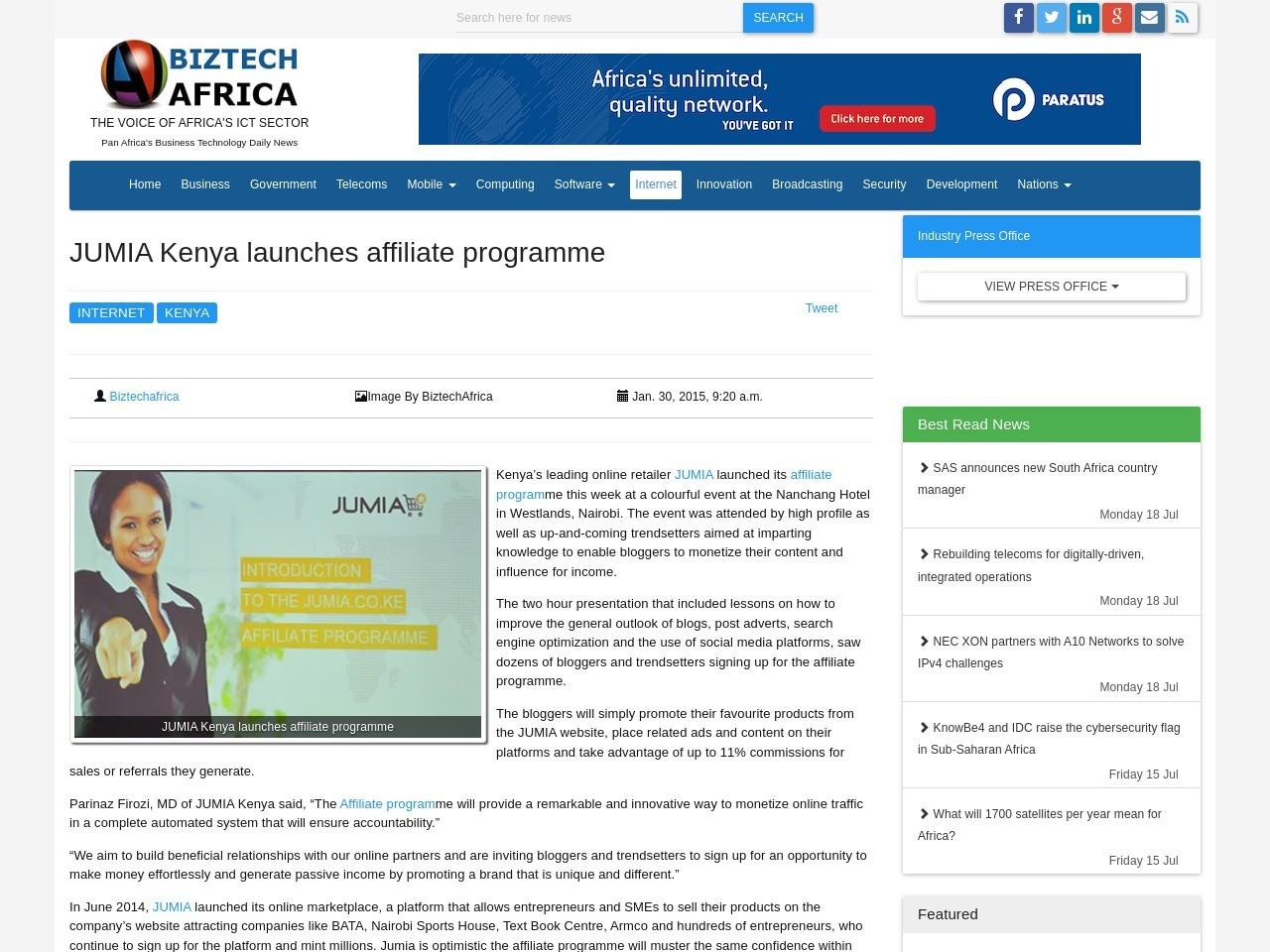 JUMIA Kenya launches affiliate programme