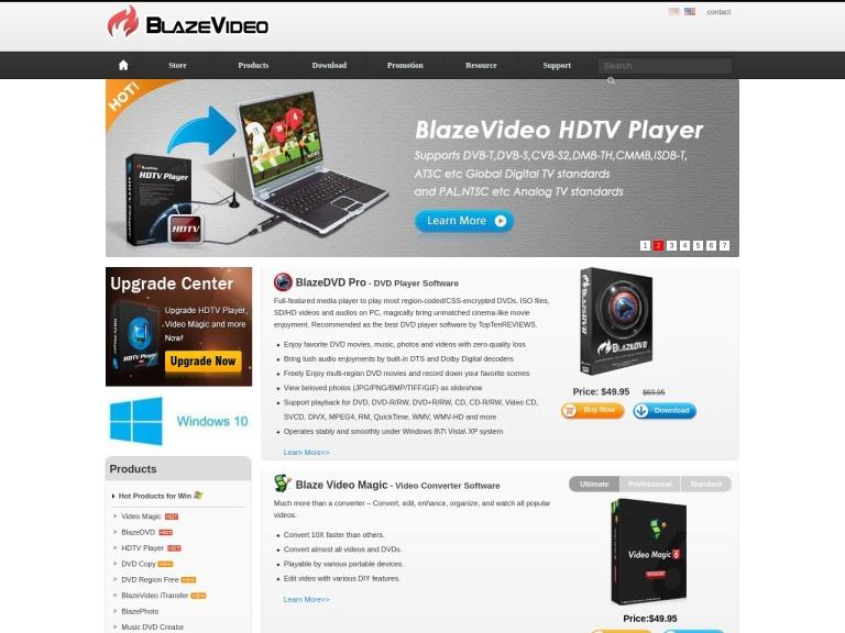 Blaze Video screenshot