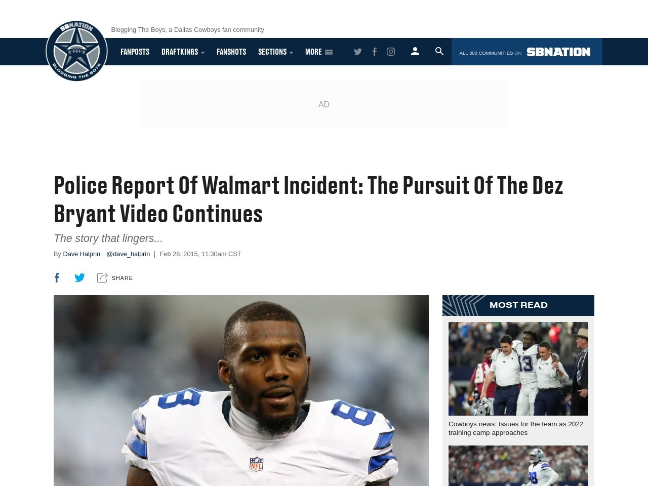 Police Report Of Walmart Incident: The Pursuit Of The Dez …