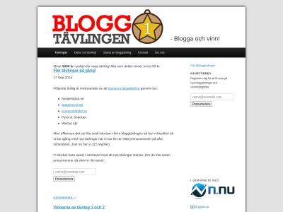 www.bloggtavlingen.se