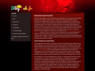 Capture d'écran pour blogotek.fr