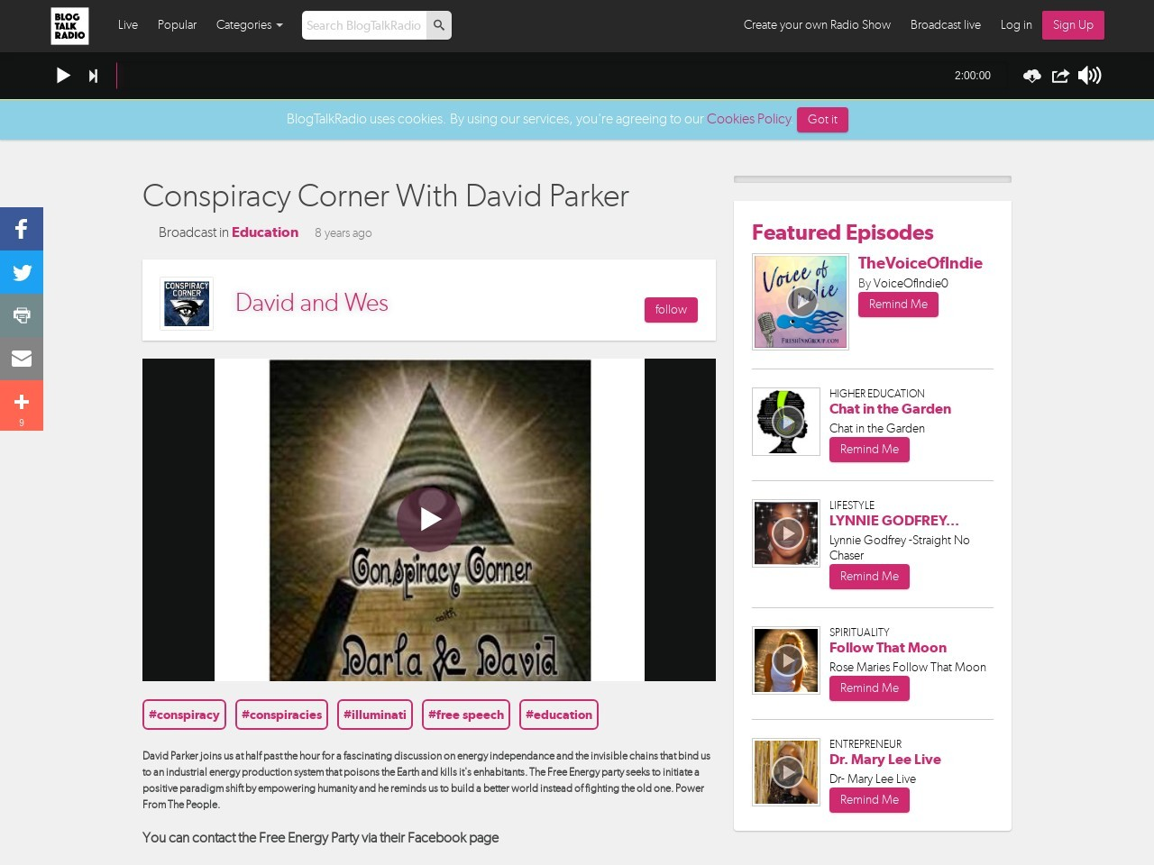 Conspiracy Corner With David Parker – Jan 16,2014
