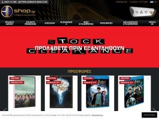 Screenshot για την ιστοσελίδα blu-rayshop.gr