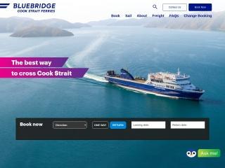 Screenshot for bluebridge.co.nz