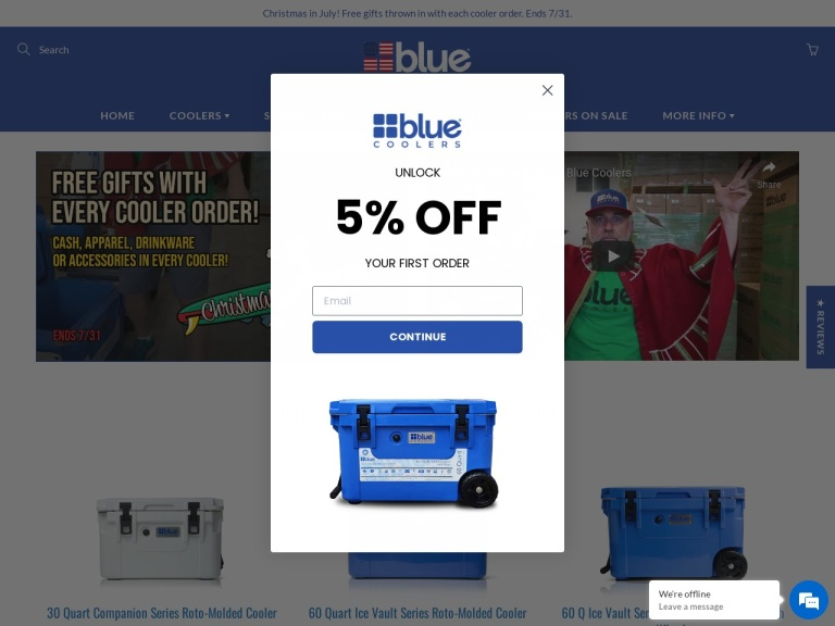 Blue Coolers Coupon Codes & Promo codes