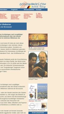 Vorschau der mobilen Webseite www.bodrumpages.com, Das Schiffswrack von Uluburun