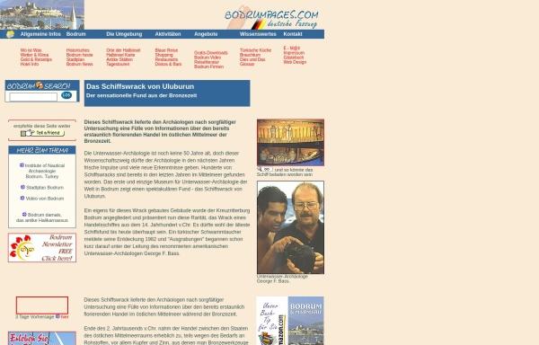 Vorschau von www.bodrumpages.com, Das Schiffswrack von Uluburun