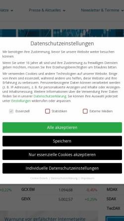 Vorschau der mobilen Webseite www.boersenag.de, BÖAG Börsen AG