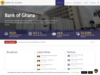 Screenshot for bog.gov.gh