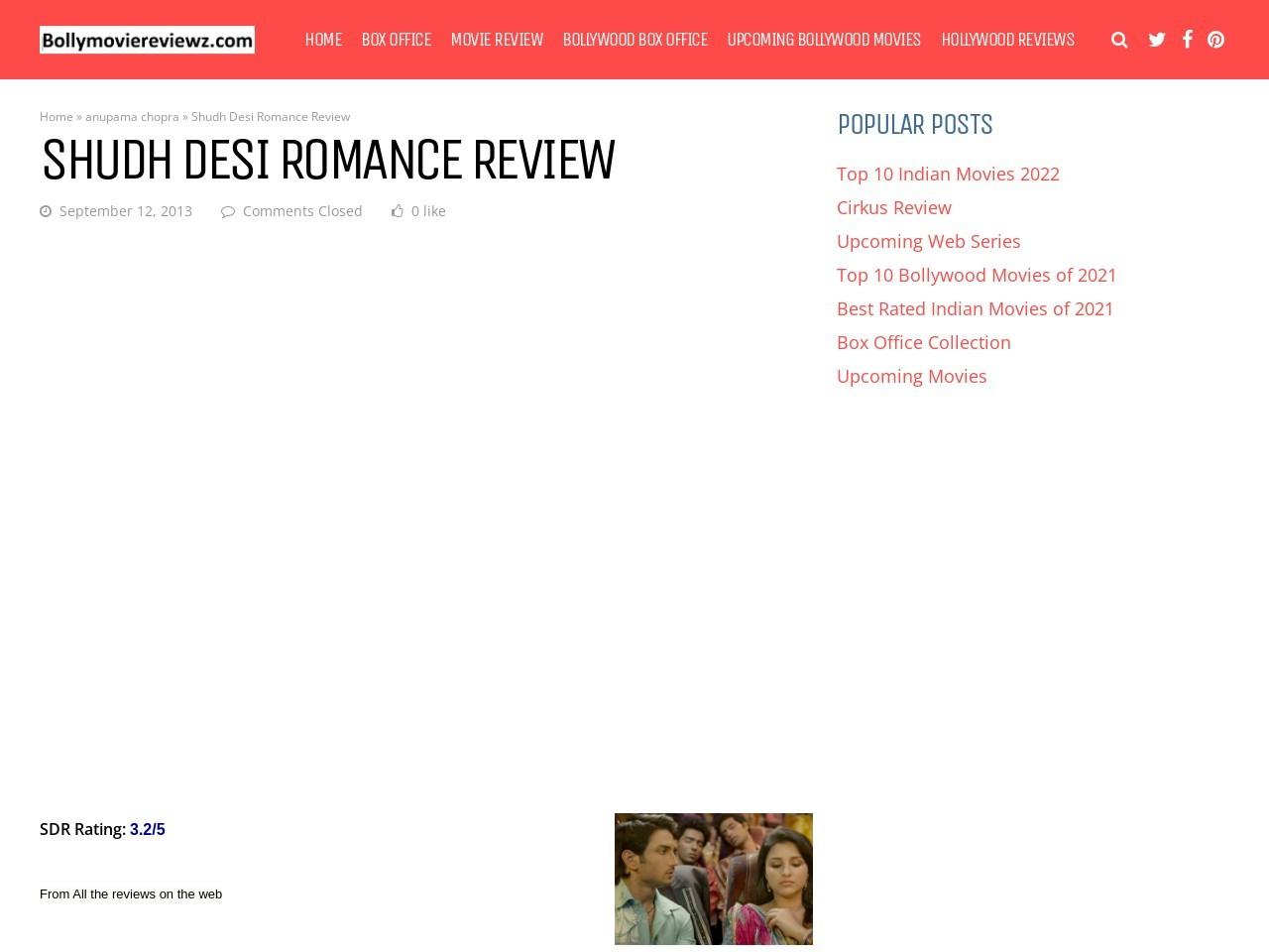 Shudh Desi Romance Review – Bollymoviereviewz