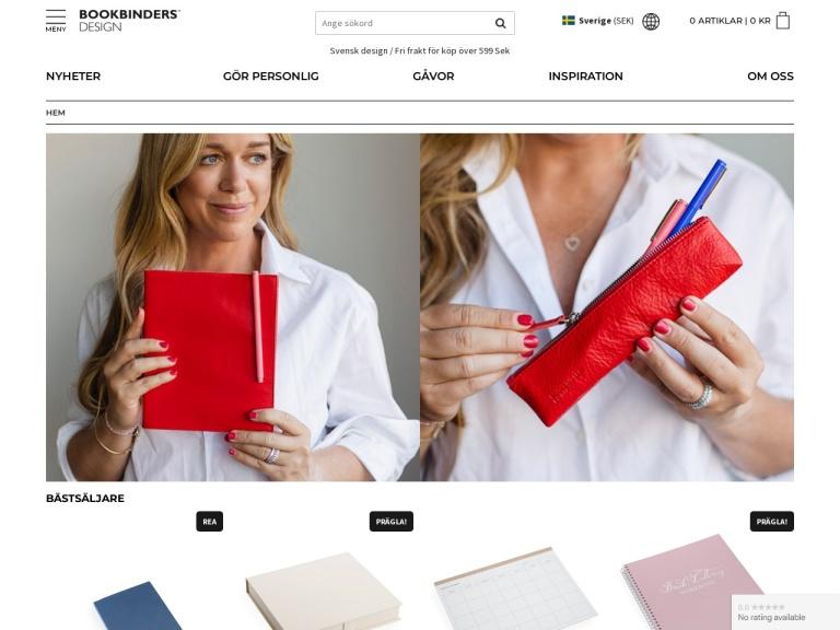 Bookbinders Design screenshot