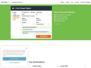 Screenshot for bookingbuddy.com