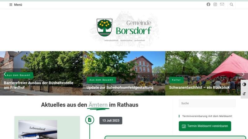www.borsdorf.de Vorschau, Gemeinde Borsdorf