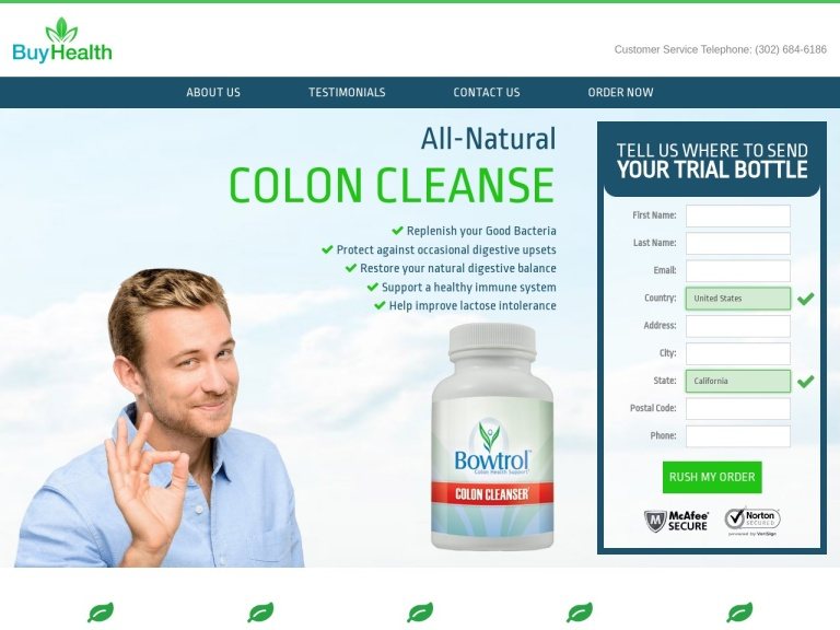 Bowtrol Colon Cleanse screenshot