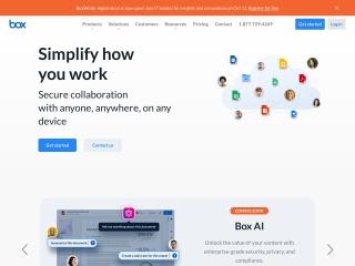 Capture d'écran pour box.com