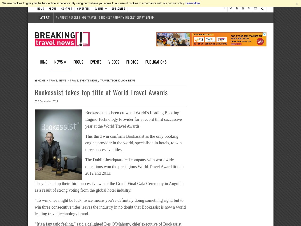 Bookassist takes top title at World Travel Awards | News …