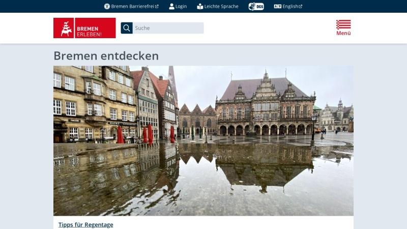 www.bremen.de Vorschau, Bremen.online - die Bremer Stadtinformanten